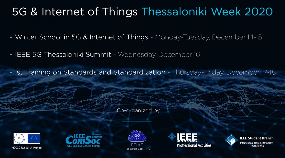 5G and Internet of Things Thessaloniki Week 2020
